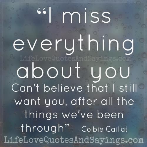 I Miss Everything About You Cant Believe That I Still Want You