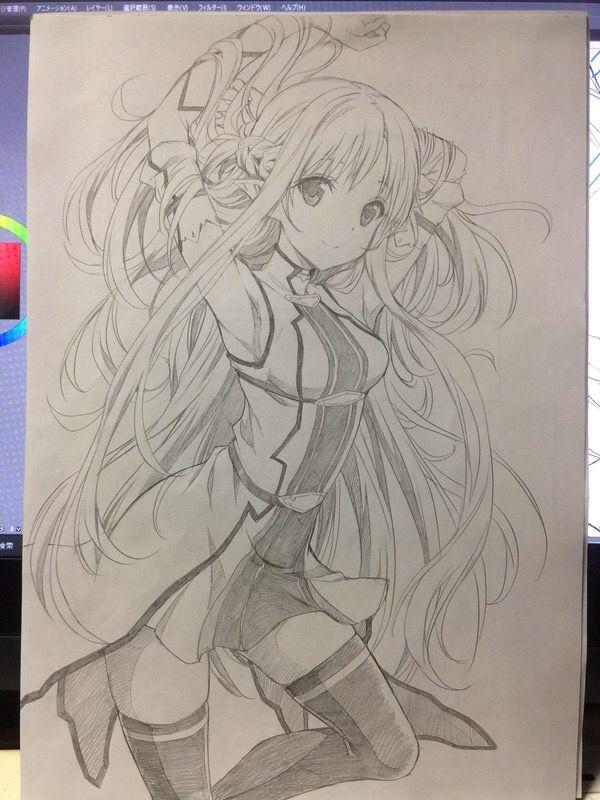 Pin von 紺野 木棉季 auf SAO | Pinterest | Zeichnen, Zeichnungen und ...