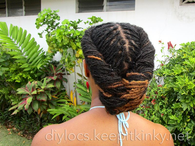 Locs Flat Twist And Fishtail Hairstyle