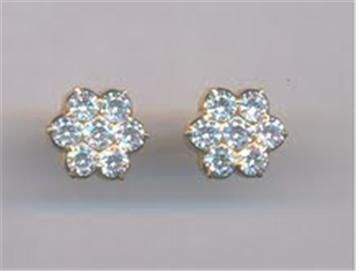 Seven Stone Leaf Model Diamond Earringshair