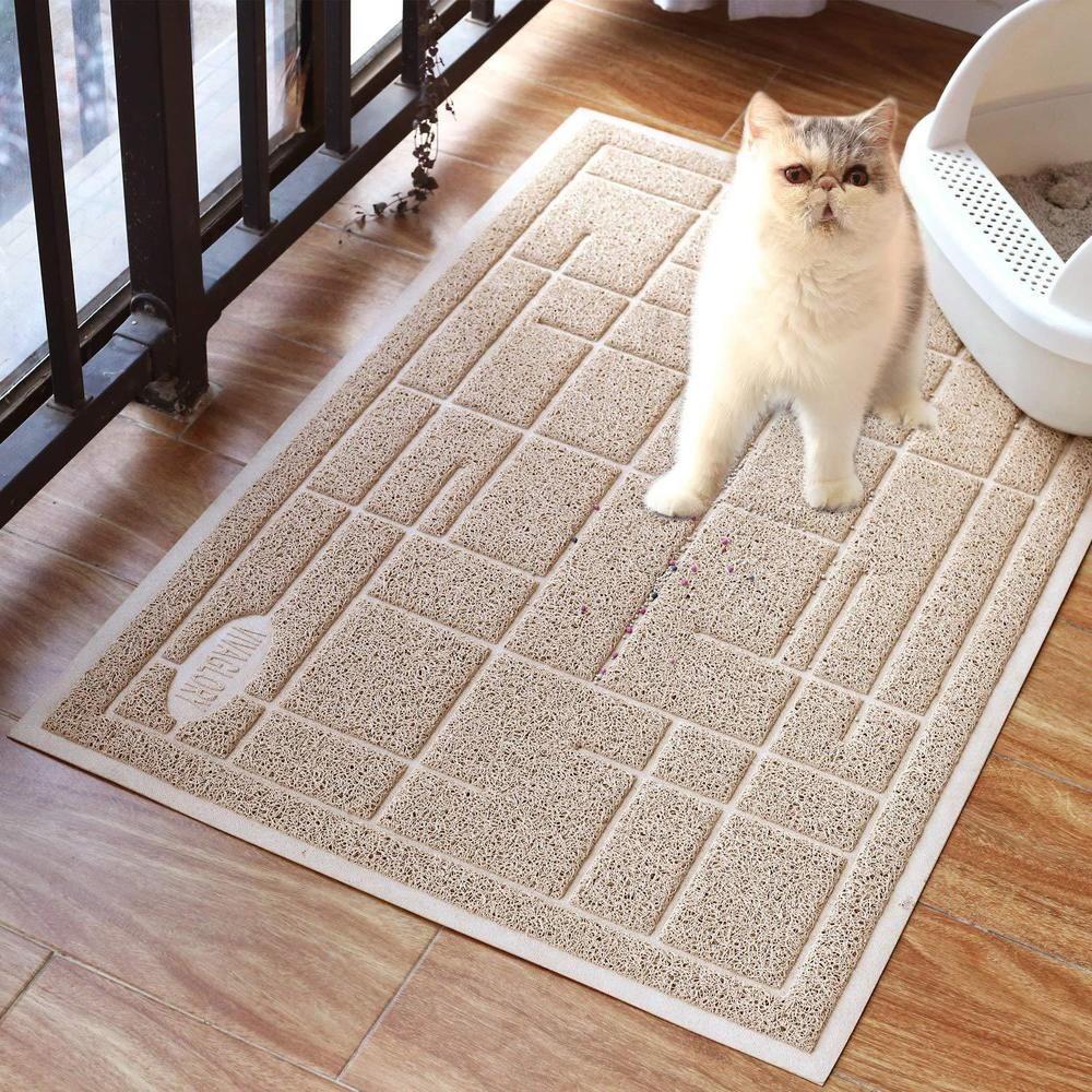 Cat Litter Tray Pad Non Slip Waterproof Feeding Large Pet Dog Floor Mat Rug Home Catlittertraypad Dog Flooring Litter Tray Cat Litter Tray