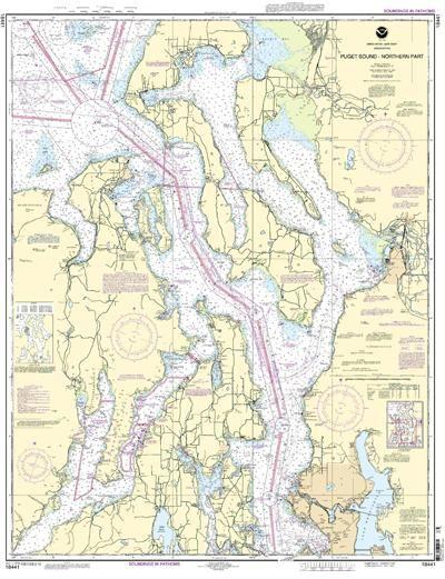 Puget sound northern part nautical map chart image nautical
