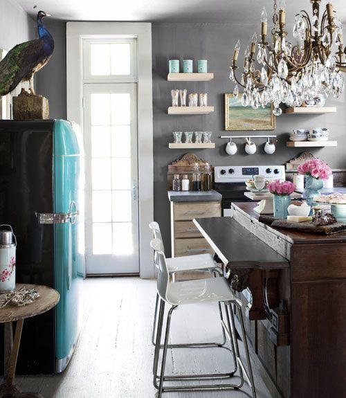 charming blue kitchen island ideas | 57 Charming Kitchen Island Ideas That Are as Pretty as ...