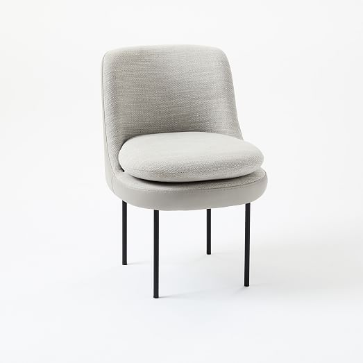 Surprising Modern Curved Leather Back Dining Chair Workspace Envy Machost Co Dining Chair Design Ideas Machostcouk