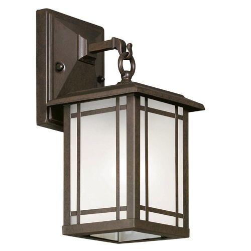 Shop Portfolio 12 1 2 In Aged Bronze Outdoor Wall Light At Lowes Com Porch Lighting Outdoor Wall Lighting Front Door Lighting