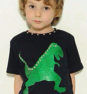 DINOSAUR...Boy's Cool Studded t-shirt