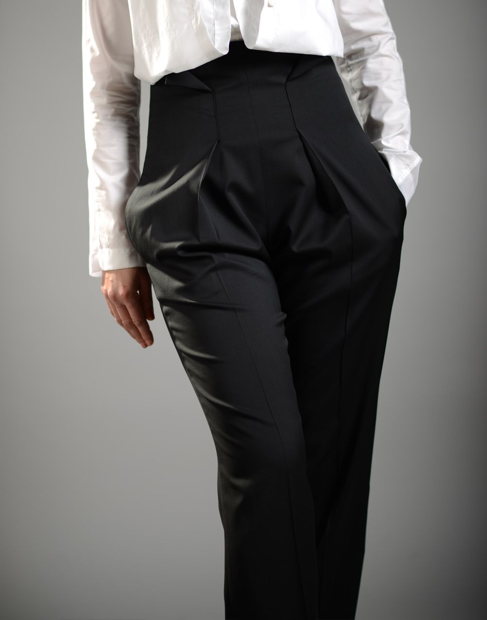 Women S High Waisted Pant Suit