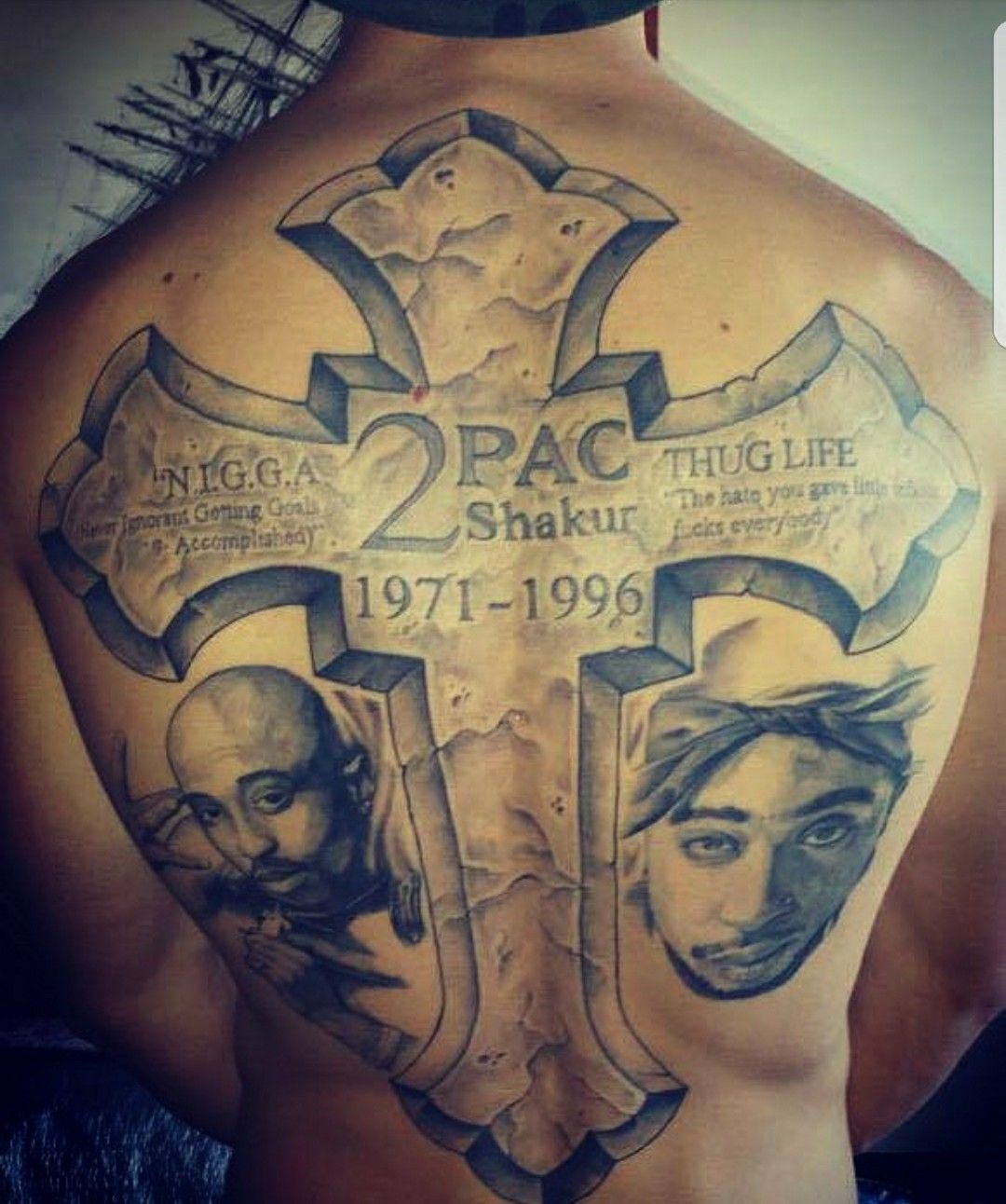 Probably The Sicccest 2Pac Tattoo Ever!