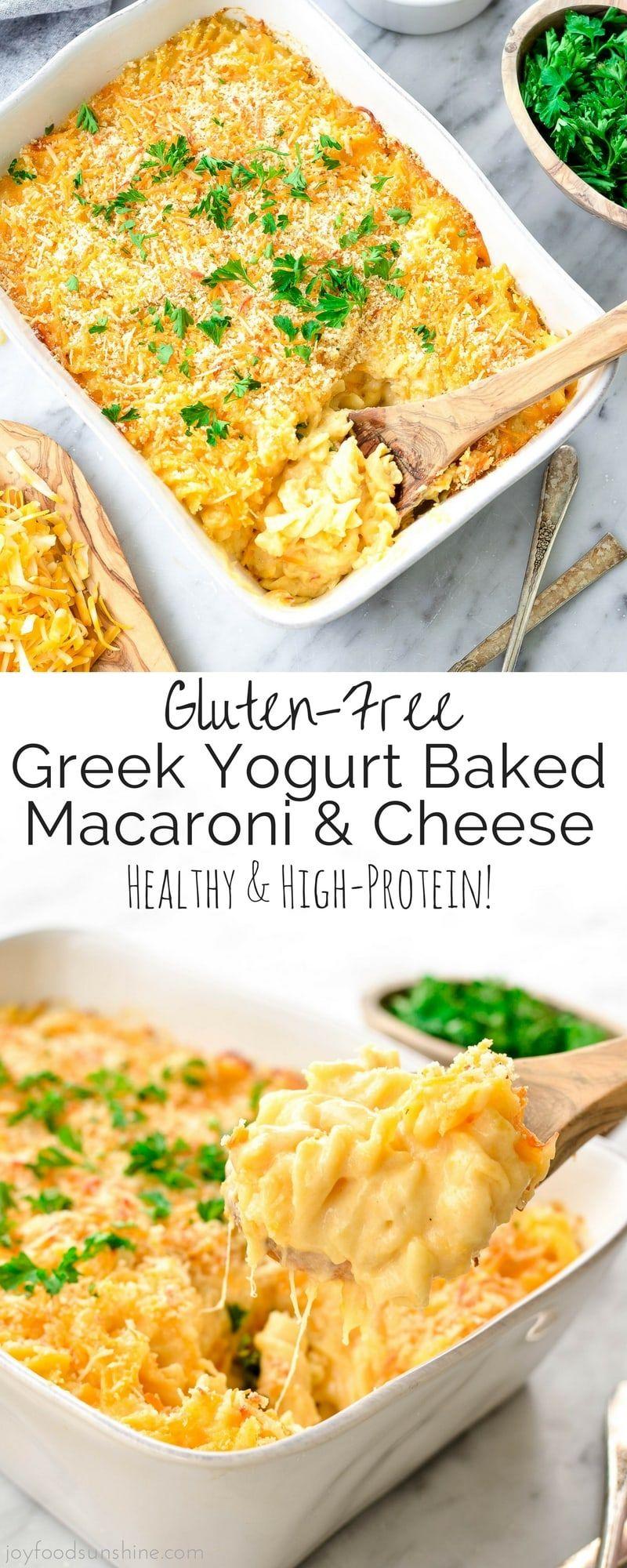 Glutenfree baked greek yogurt macaroni cheese is an