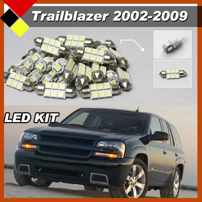 12.46$  Watch now - http://alicox.shopchina.info/go.php?t=32317537629 - Car LED Kit  Package Interior Map Dome License Plate Cargo Lights White Top Quality Suit 2002 - 2009 Trailblazer 12.46$ #magazine