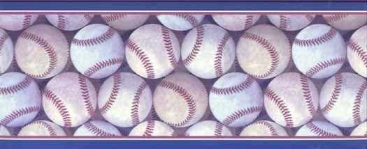 Baseballs Galore Wallpaper Border kid ideas Pinterest