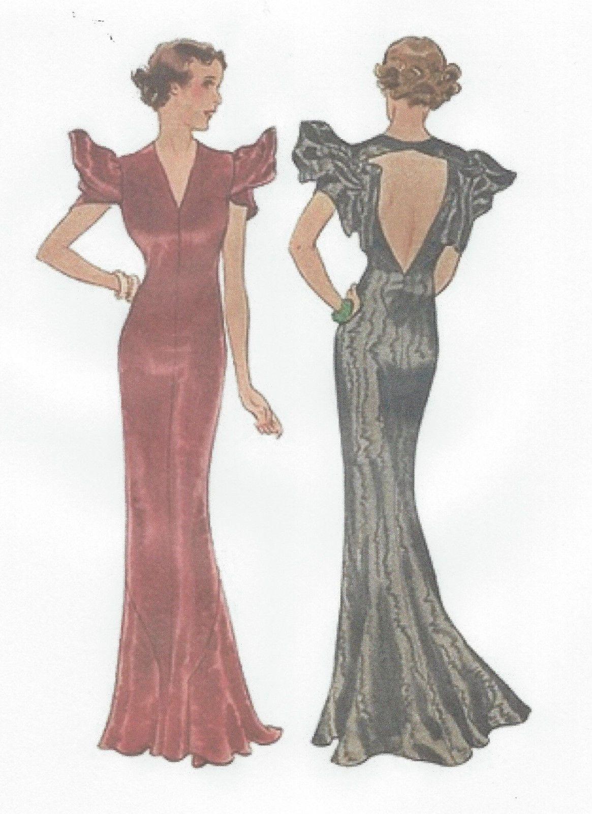 vintage sewing pattern b evening dress r ebay us