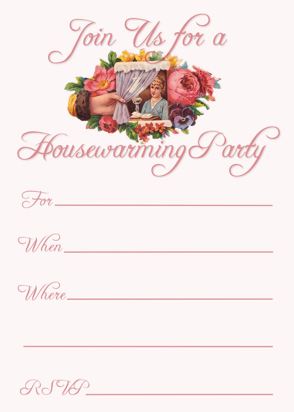 these three free housewarming party invitation templates can be made to fit 5 x 7