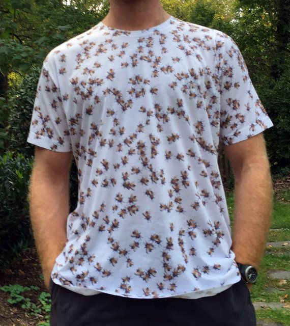 Beekeeping Swarm Of HoneyBees Sublimated T-Shirt American Apparel HIHwM