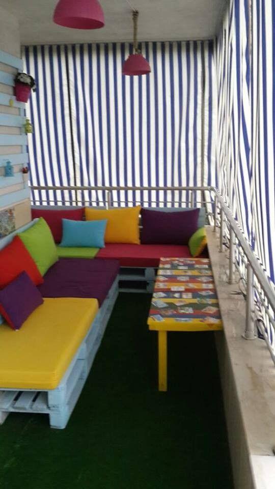 Elif hanımın rengarenk balkonu #balkondeko