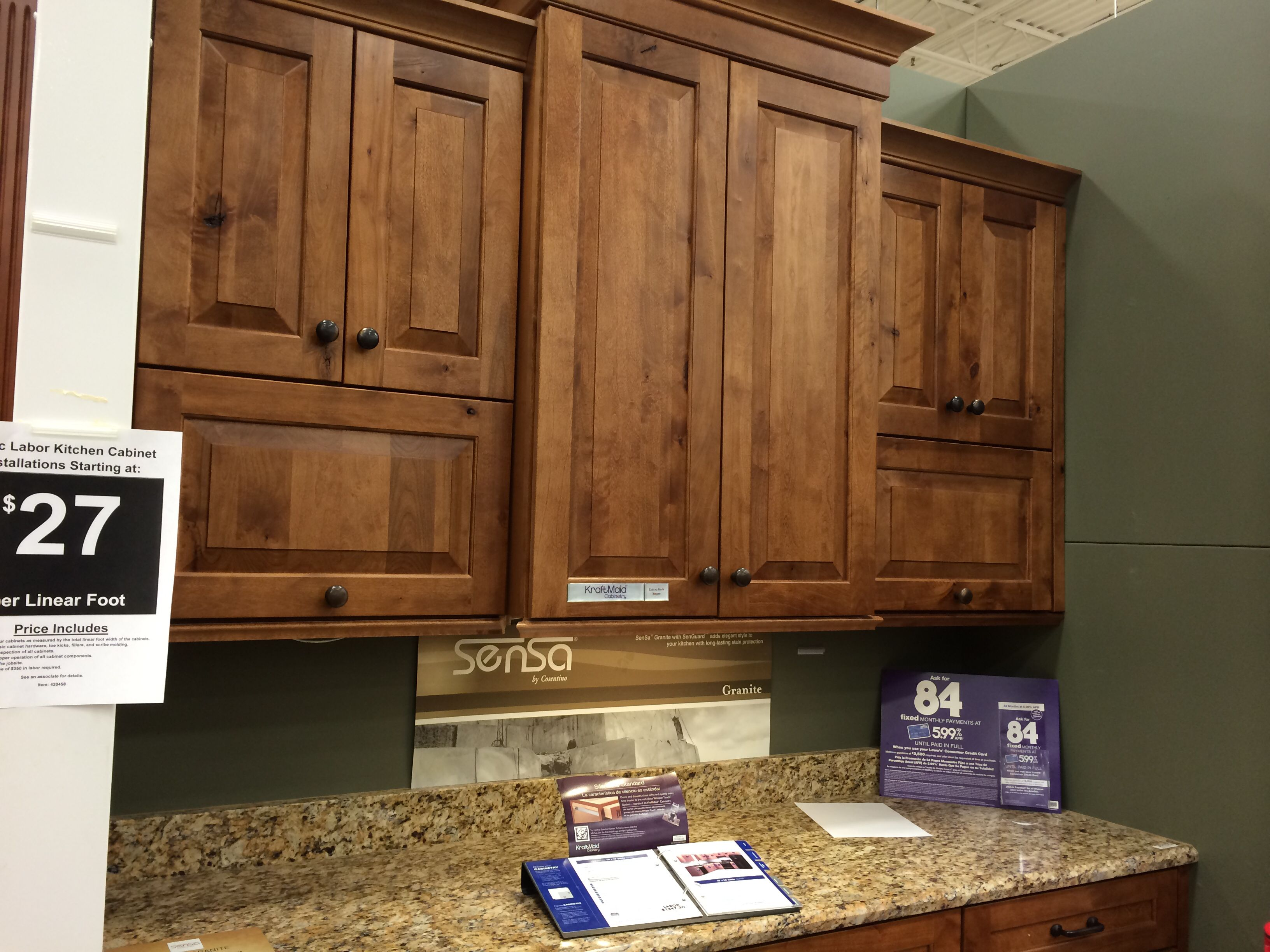 Lowes Kitchen Cabinets Per Linear Foot Kraftmaid Cabinets At Lowes Monument House Kitchen Cabinets