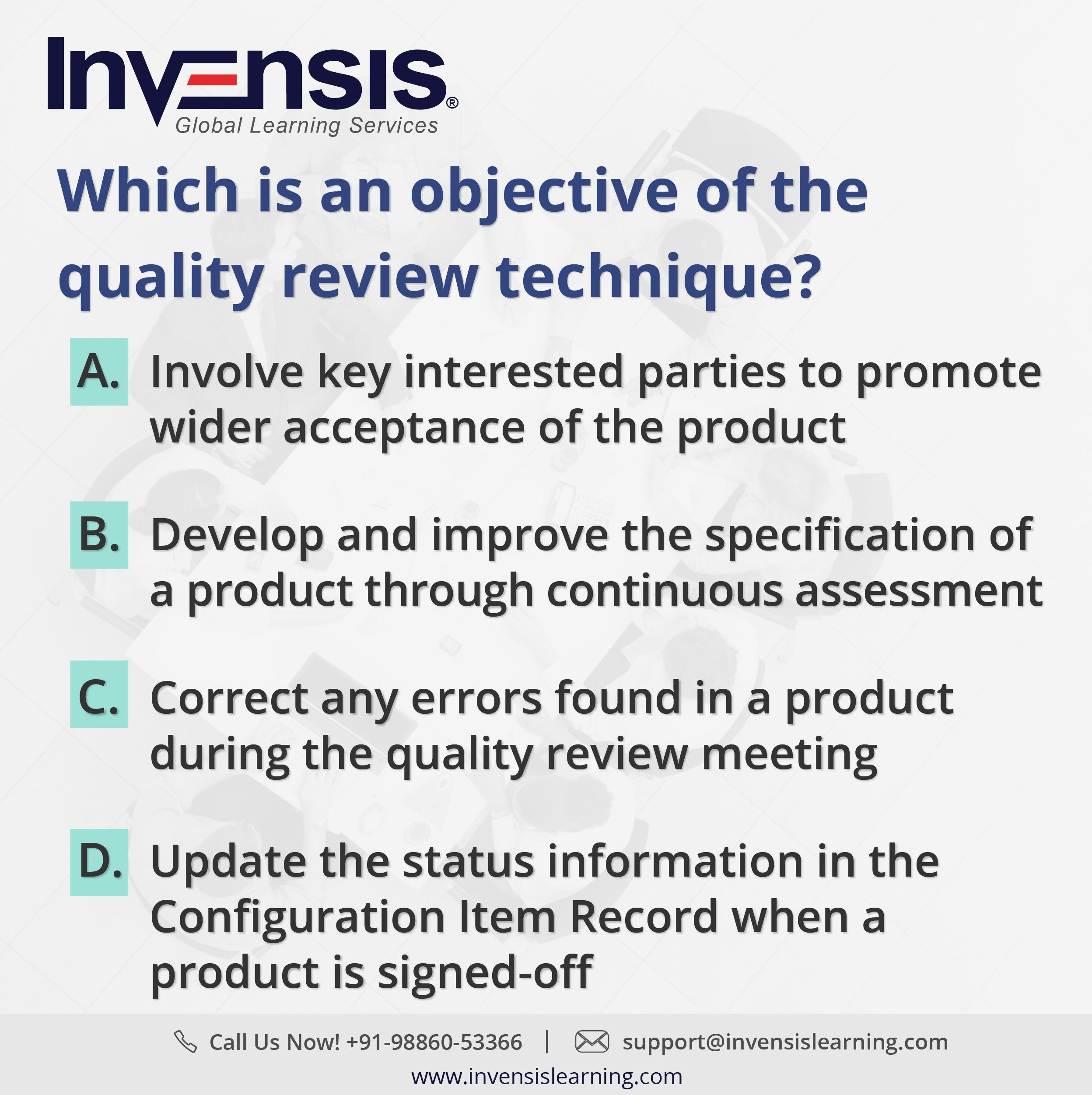 Which is an objective of the quality review technique get 2 get 2 prince2 foundation sample tests with our prince2 certification training in bangalore india please visit invensislearning for more xflitez Images