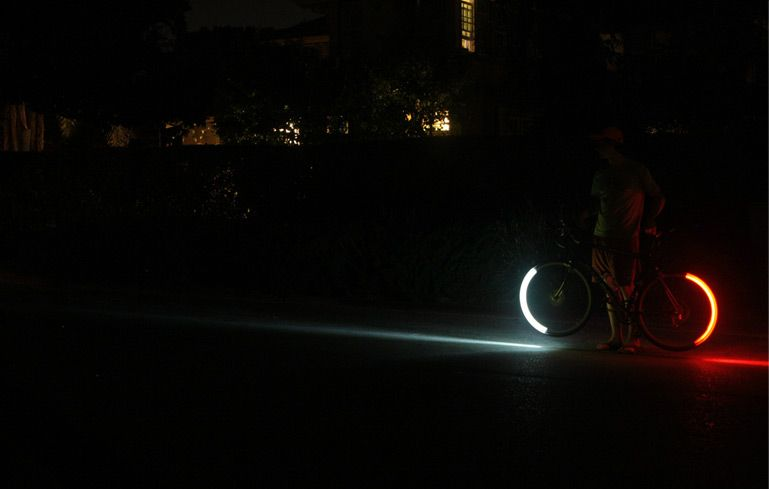The Patented Revolights Bike Lighting System Consists Of Two