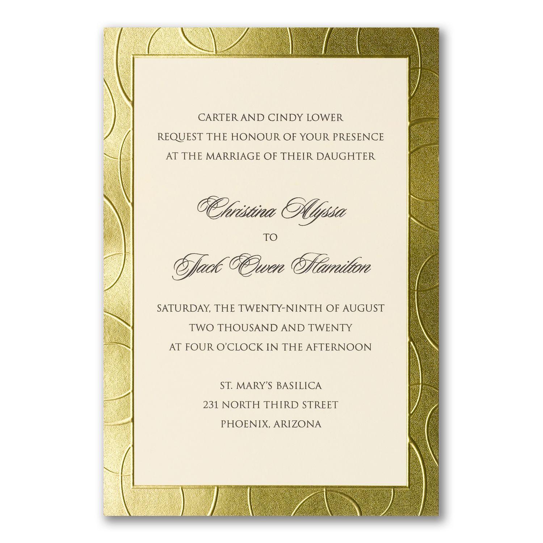 Gilded gold border wedding invitations http gilded gold border wedding invitations httppartyblockinvitations occasions sa monicamarmolfo Choice Image