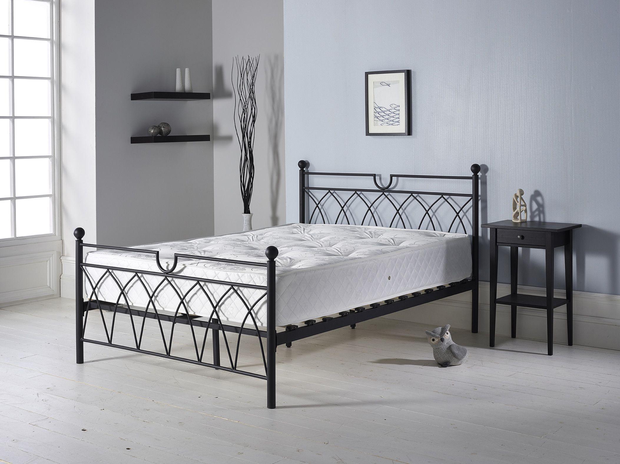 Metal double bed in black pinterest metal double bed double
