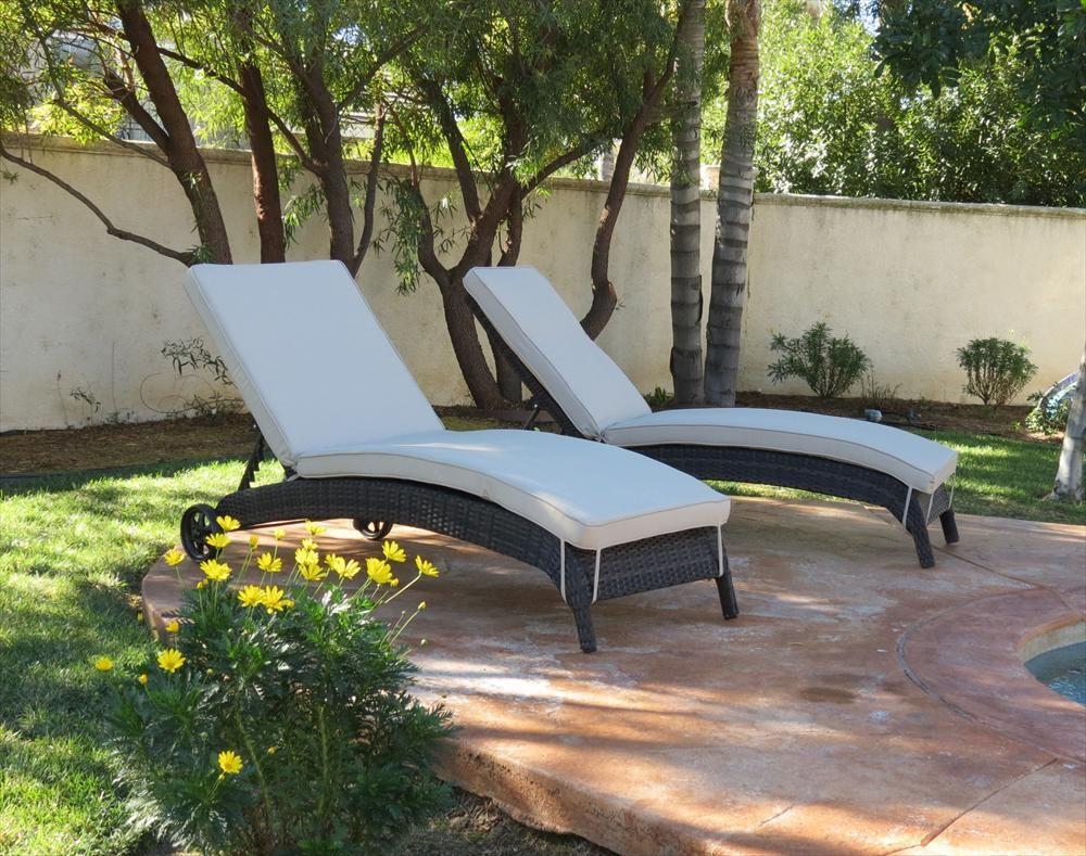 Delightful BuildDirect®: Patio Furniture Patio Furniture Monte Carlo Series 2 Piece  Wicker Chaise Lounger Set