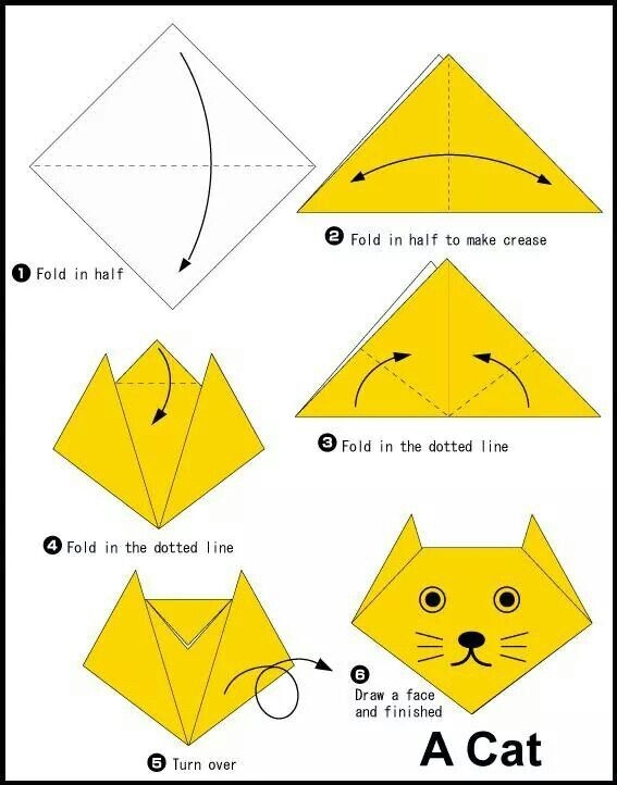 cat face paper crafting origami, kids origami, origami easyorigami flower step cat face