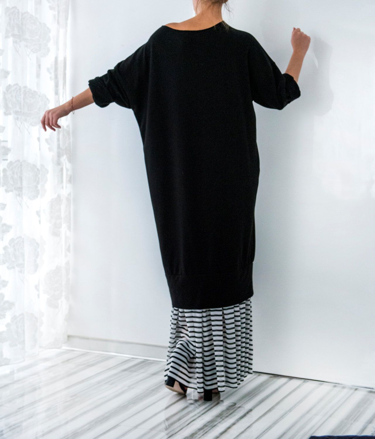 Sale on off black dress with sleeves islamic dress