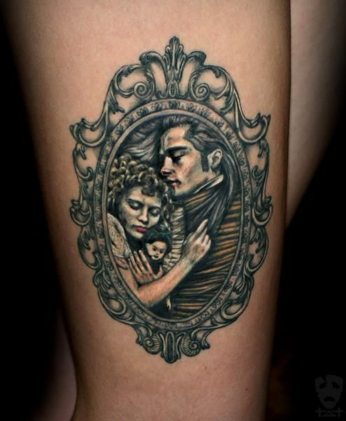 first tattoo I am going to get this year and it will be on my right thigh, just exactly like this and this large.