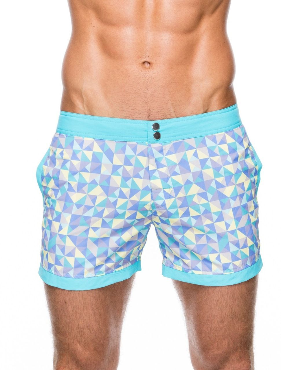 Men's Swimwear – Cabana patterned slim fit swim shorts by teamm8 ...