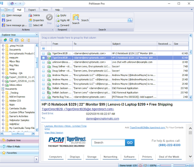 MBOX Viewer PstViewer Pro Supports MBOX Email Perfect