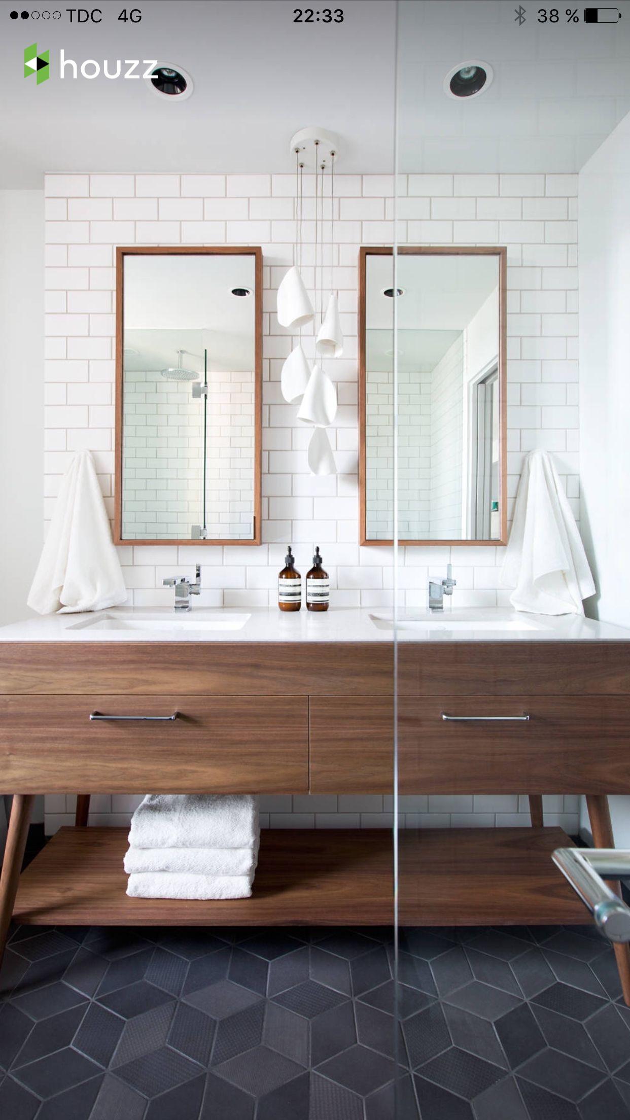 Master bath double mirrors Decoraci n Pinterest