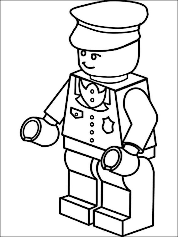 Lego Police Coloring Pages 2 | Coloring pages for kids | Pinterest