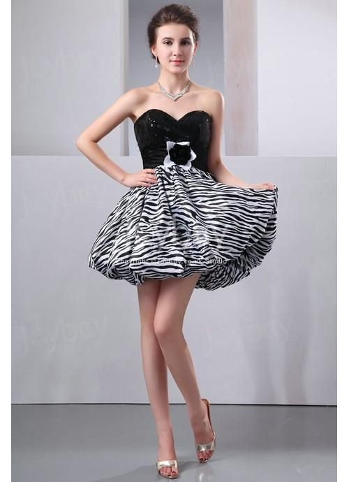 black zebra print cocktail dress Animal Print Cocktail Dress with ...