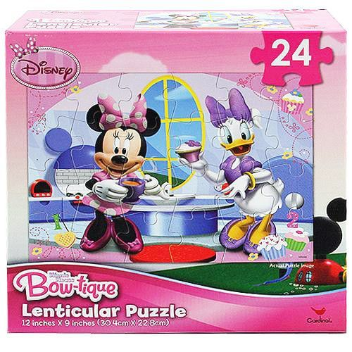 Minnie Mouse Bow-tique Lenticular Puzzle [24 Pieces - Minnie and Daisy]