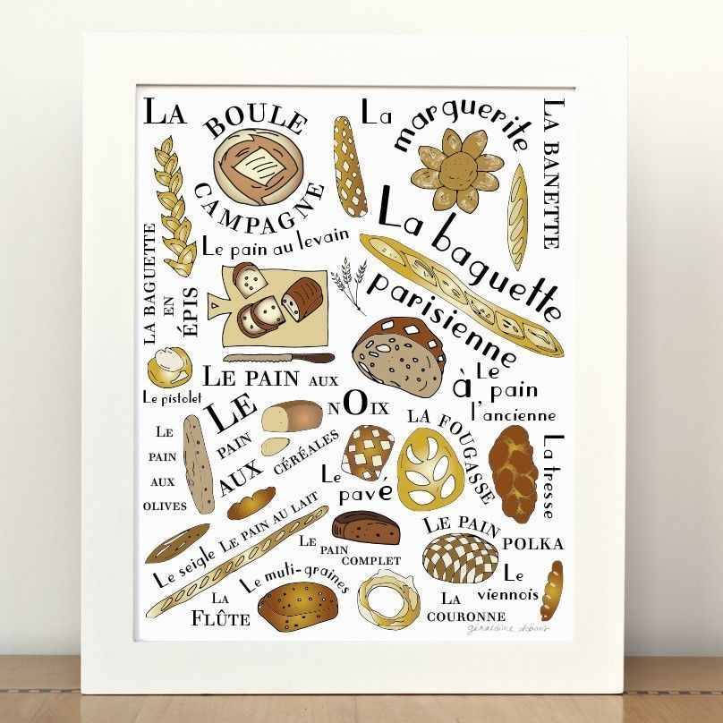 Geraldine Adams Print Depicting The Wide Variety Of French