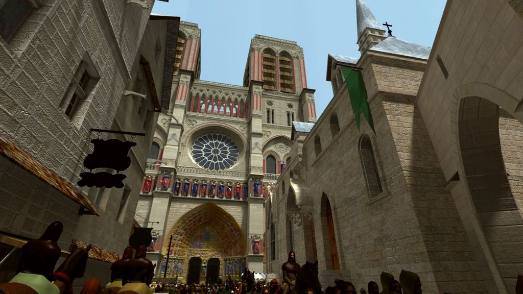 A 3D reconstruction of Notre Dame de Paris in the Middle Ages.  We love seeing beautiful examples of 3D reconstruction work!
