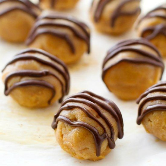 These addicting truffles taste exactly like a peanut butter cup and no one will guess that they're made healthy and ready in less than 20!