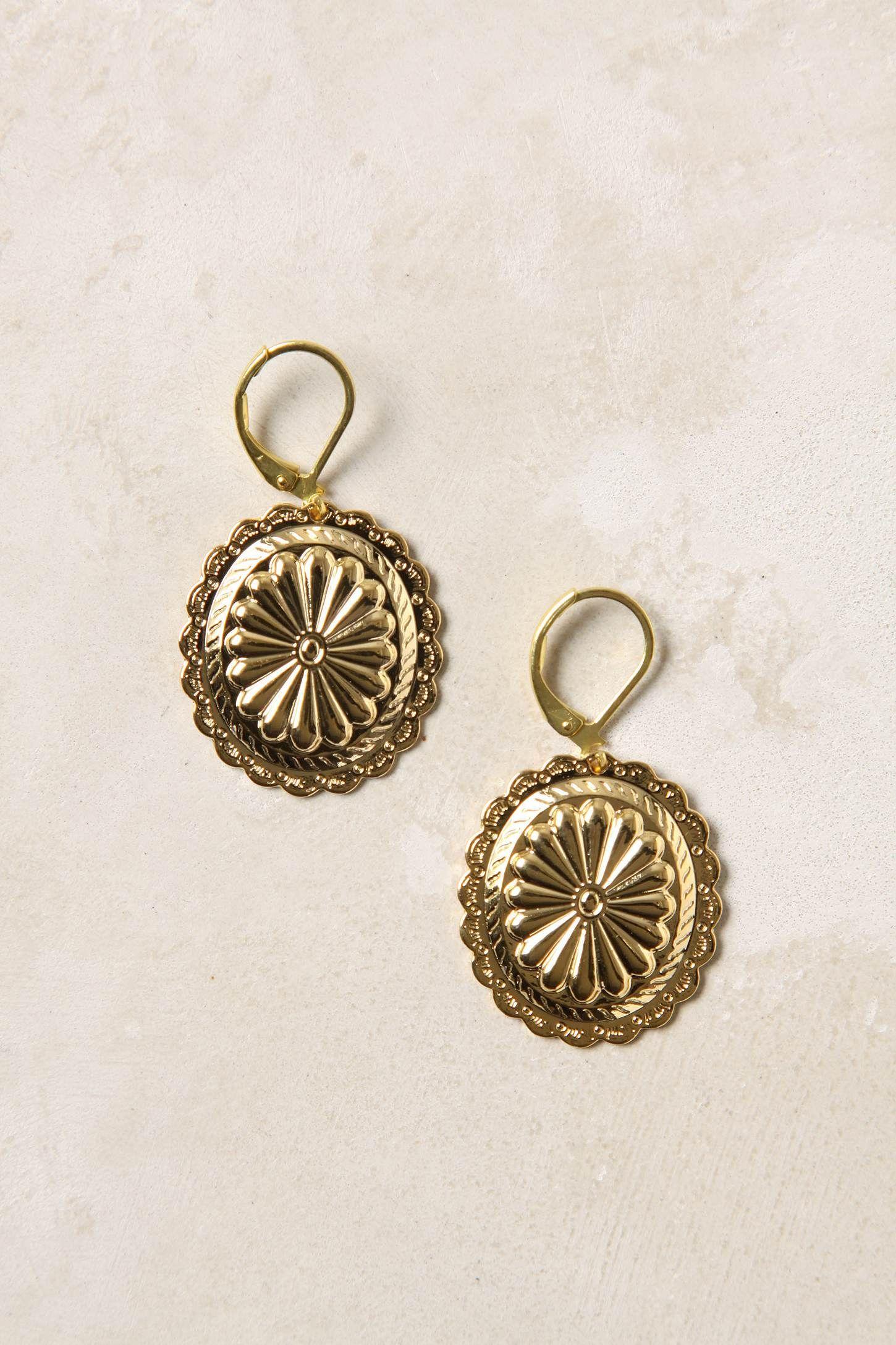 Cute gold earrings | My Style Pinboard | Pinterest