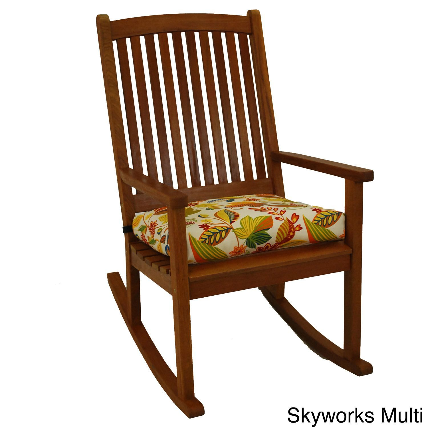 Blazing needles patterned allweather outdoor rocker chair cushion