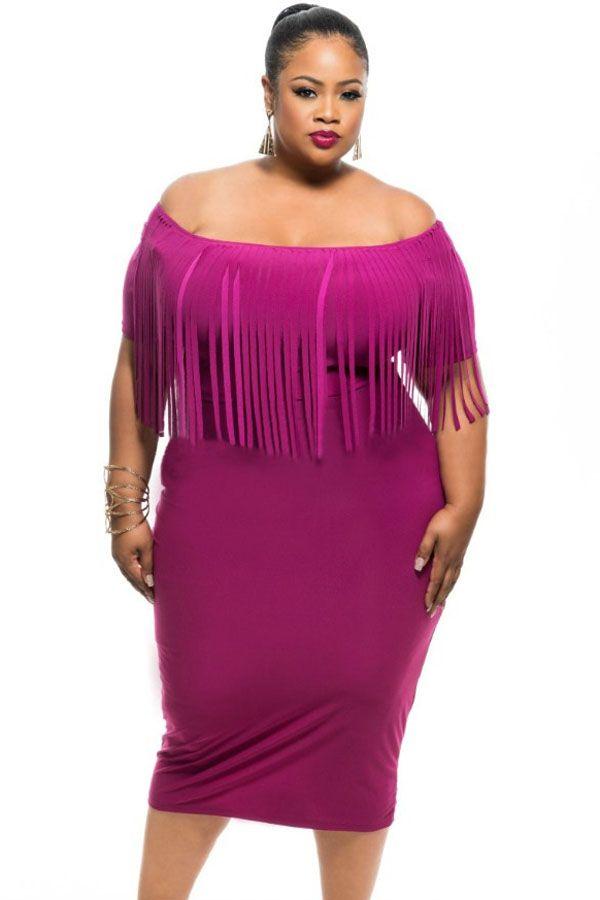 rosy short sleeve fringe top plus size dress | short sleeves