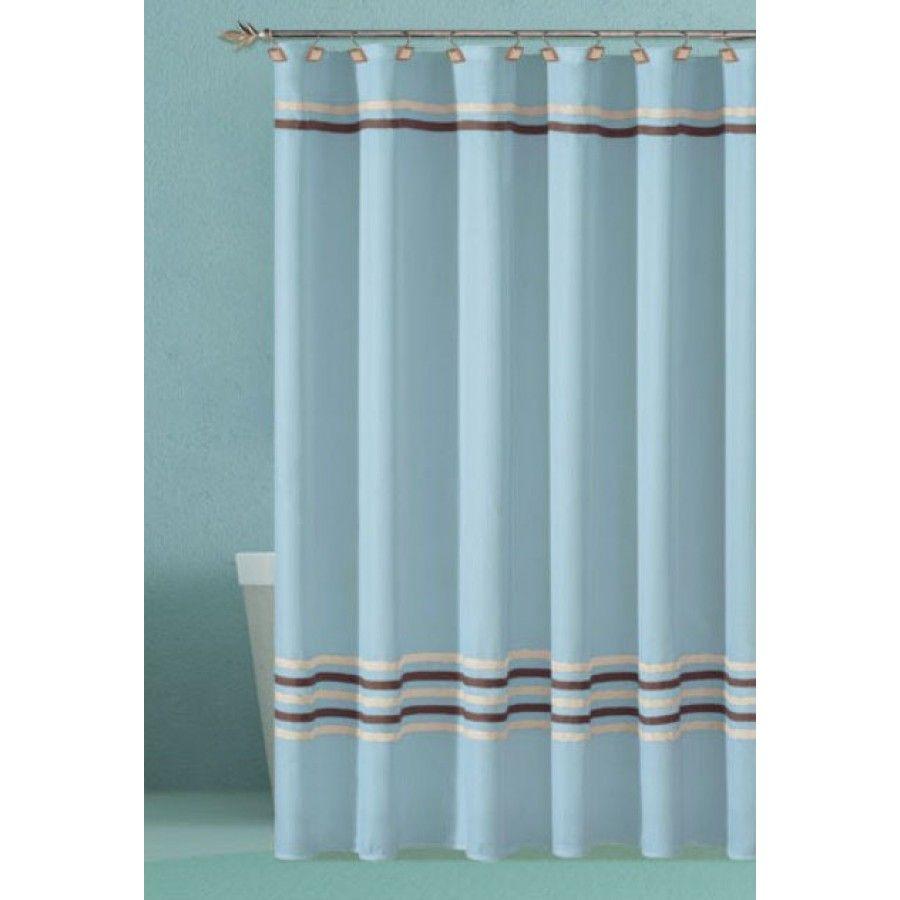 Dr International Trinity Shower Curtain Color Aqua Thsaq 12