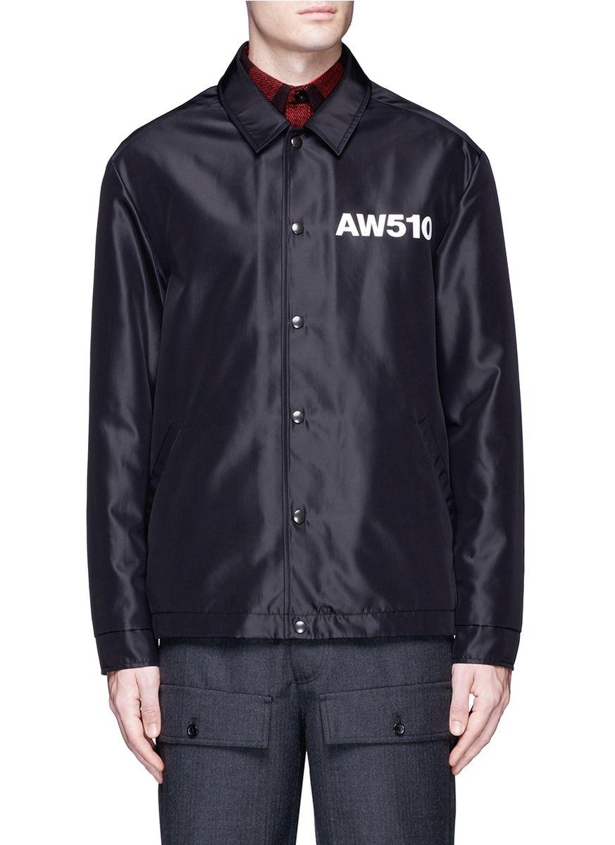 002bad55 AW510' print coach jacket | Glamorous Men Style Fashion | Jackets ...