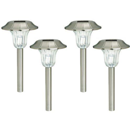 4 Pack Westinghouse Milano Stainless Steel Solar Garden LED Stake Light