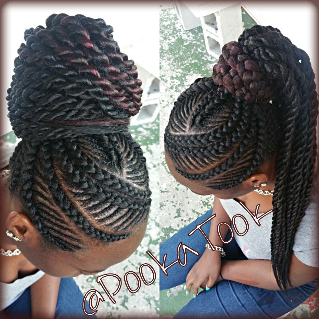 Big and small braid mix... I just love this style