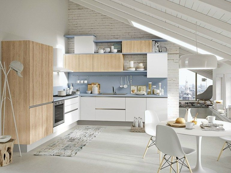 Cucina componibile con maniglie integrate UP - ABACO BY ...