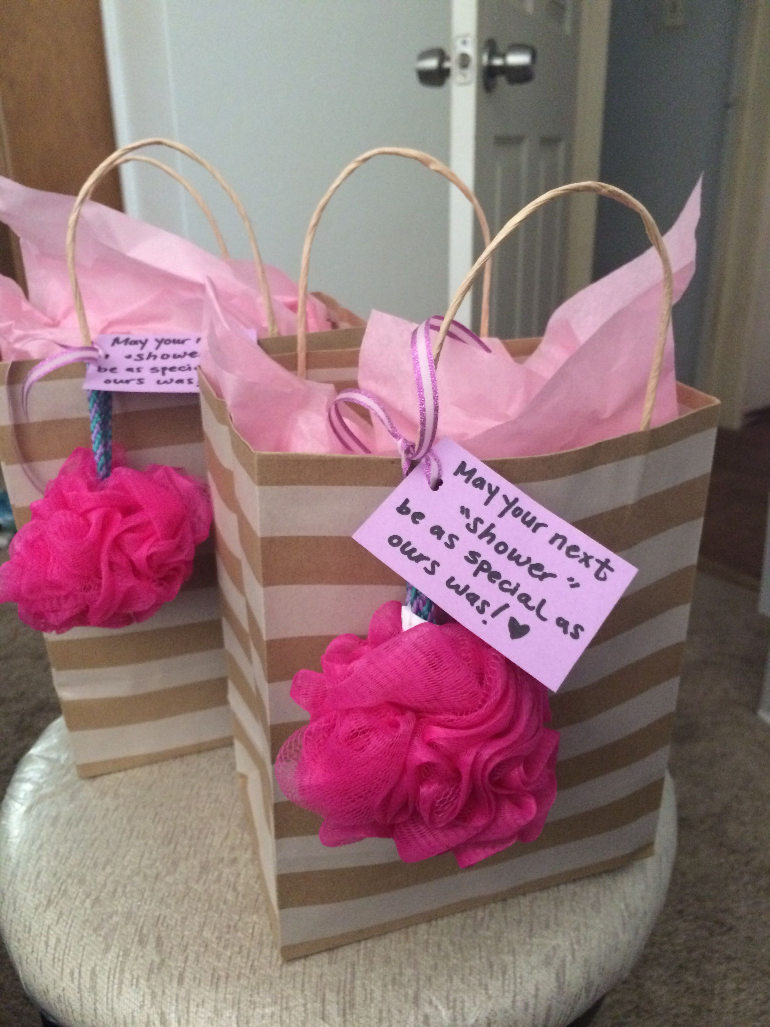 Baby shower hostess gifts include body wash facial