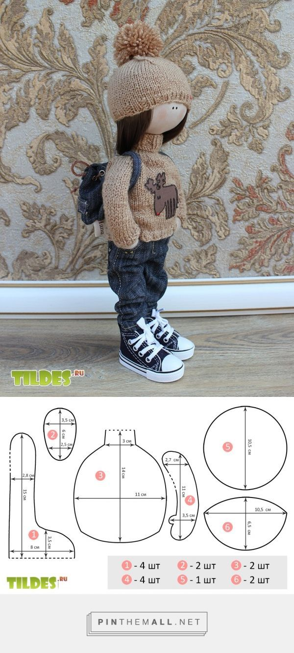 Free sewing pattern for doll