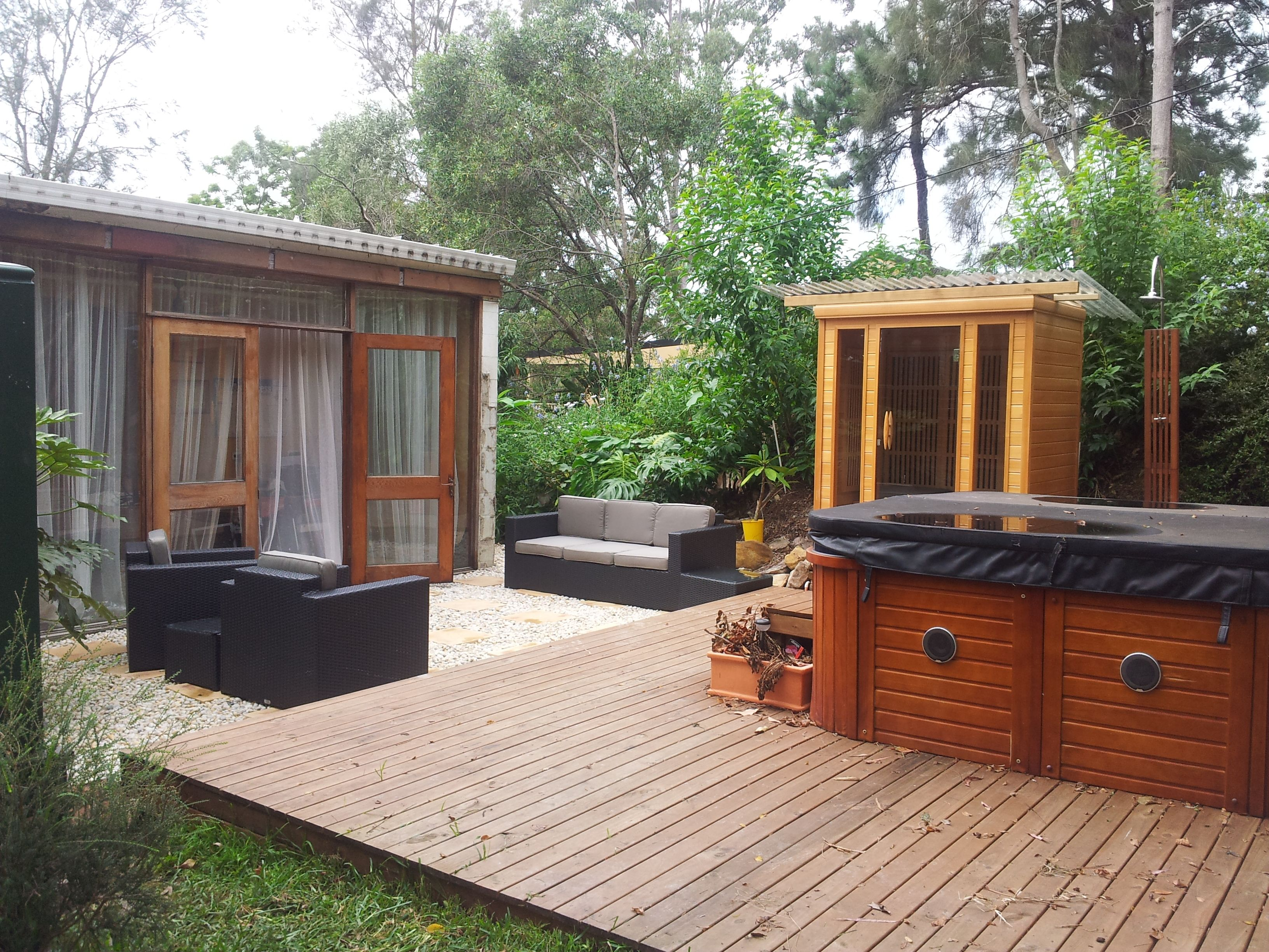 Outdoor Area, Sauna, Spa Deck, Pebbles Pavers