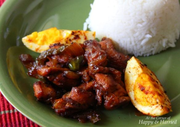 Chili Chicken With Fried Boiled Eggs