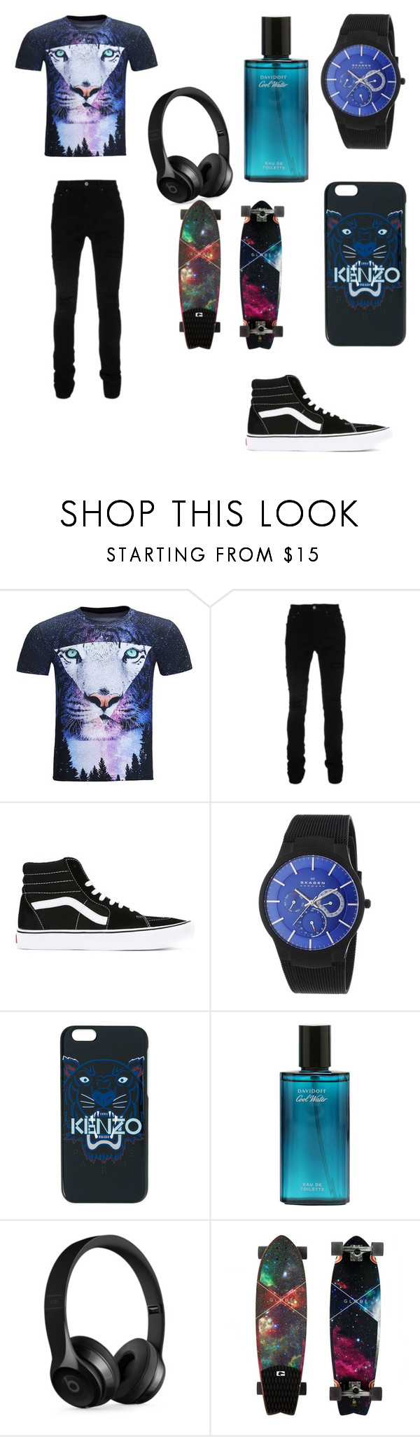"""No name"" by martialartsqueen ❤ liked on Polyvore featuring AMIRI, Vans, Skagen, Kenzo, Beats by Dr. Dre, men's fashion and menswear"